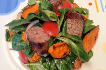 Salata cu carnat si cartofi dulci, u nutritionist Roxana Ciocaltea, Nutritie cu Roxi